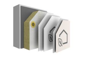 Das System StoTherm AimS®, bestehend aus Dämm-, Armierungs- und Materialebene. Quelle: © Sto SE & Co. KGaA