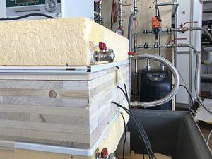 Versuchsaufbau mit Labormessungen, Foto: © FH-Salzburg/Thomas Schnabel
