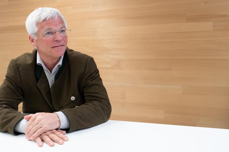 Peter Aicher, Vorsitzender des Interessenverbandes Holzbau Deutschland, Foto: © ZDB/Laube