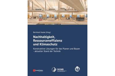 """Cover des Buches """"Nachhaltigkeit, Ressourceneffizienz und Klimaschutz"""", Bild: Copyright © Ernst & Sohn Verlag by John Wiley & Sons, Inc."""