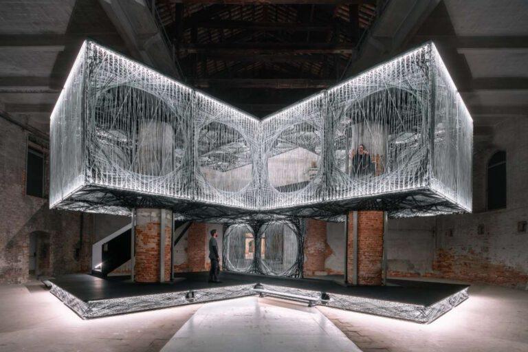 Das Maison Fibre: Der Beitrag von ICD und ITKE zur Architekturbiennale Venedig 2021 Foto: ICD/ITKE/IntCDC/Universität Stuttgart