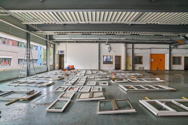 Aufstockung der Lagerhalle K 118 in Winterthur ausschließlich mit bereits vorhandenen Bauteile aus Rückbauten. Foto: Martin Zeller, Baubüro: in situ, Bauherrschaft: Stiftung Abendrot