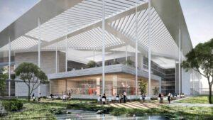 LAB - Lausitz Art of Building, so könnte ein zukünftiges Großforschungszentrum aussehen   © CGI HENN
