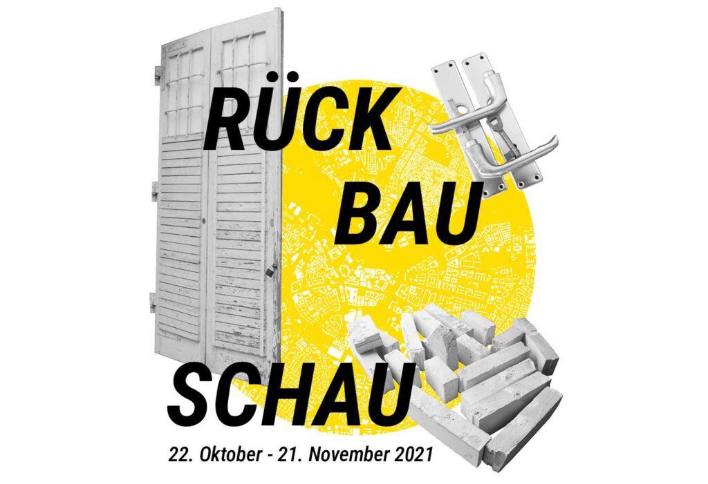 Ausstellung RÜCK-BAU-SCHAU, Grafik © Teams Zirkuläres Bauen Dresden