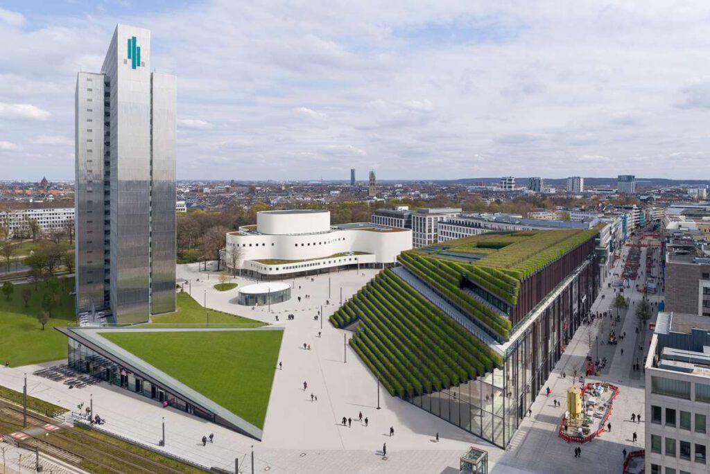 Kö-Bogen II, Visualisierung: ingenhoven architects/HGEsch